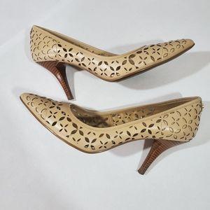 Cream/Nude Michael Kors pointed toe heels